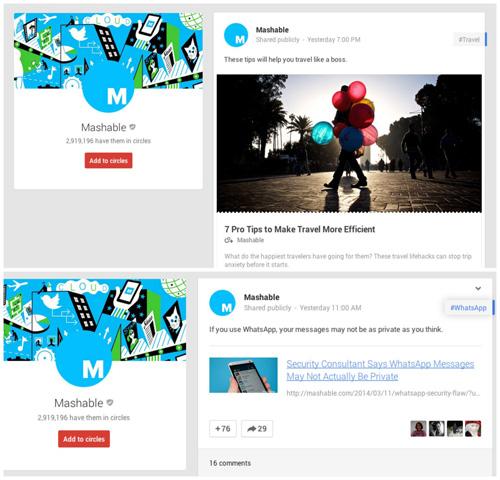 Google + tasarımında yapılan değişiklikle site Facebook'a_benziyor