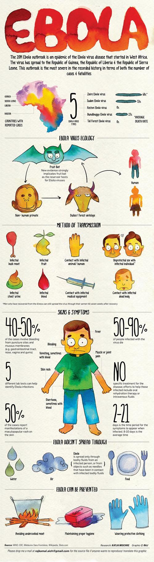 ebola virüsü infografiği