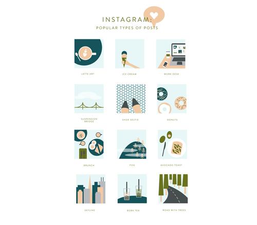 Instagram-popüler-paylasım-ilüstrasyon-
