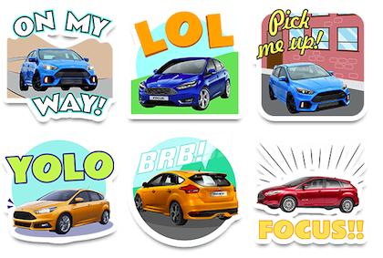 ford focus emoji stickers