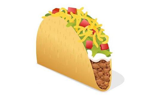 taco bell taco emoji