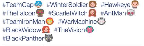 civil war twitter emoji