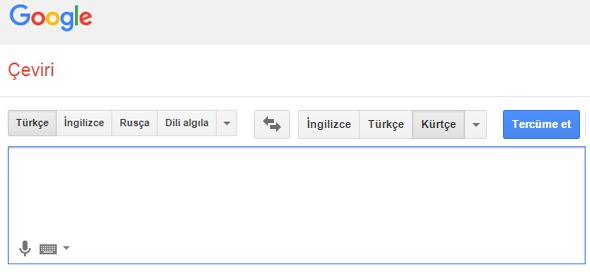 google kürtçe çeviri